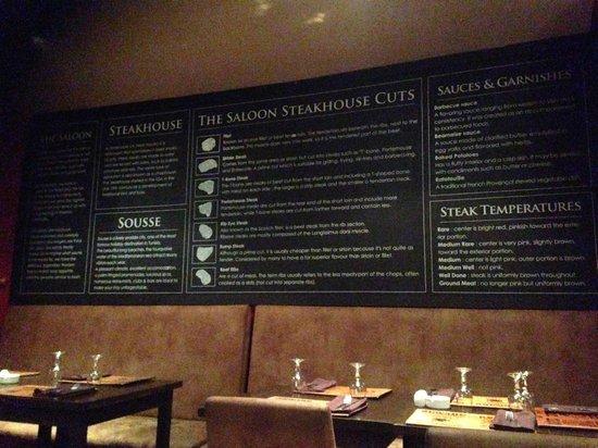 The Saloon : Steak Board