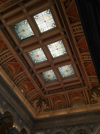 Library of Congress: Stained Glass ceiling