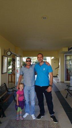 Menia Beach Hotel: hotel employee