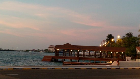 Hulhule Island Hotel: President jetty view while going from airport to HIH