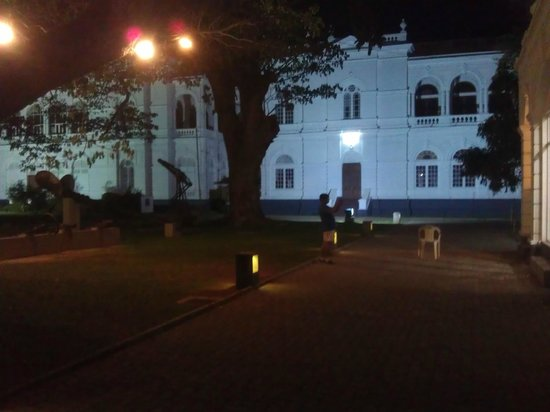 Colombo National Museum: Colombo museum compound at night
