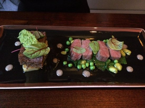 Restaurant One Eighty: Lamb and peas
