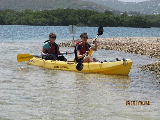 Virgin Islands Ecotours: wooo kayaking