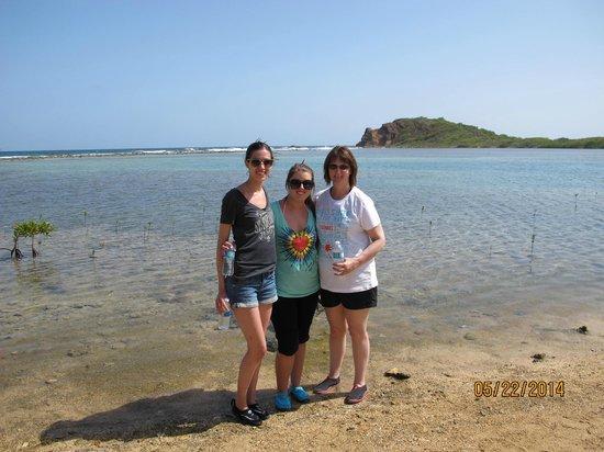 Virgin Islands Ecotours: us along the beach