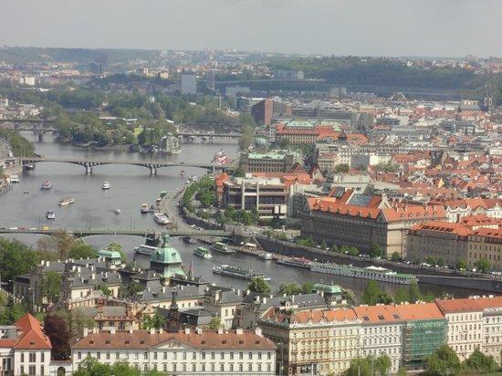 President Hotel Prague : the hotel seen from the Prague Castle