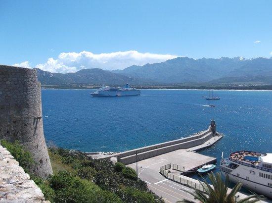 Citadelle de Calvi : The view across the bay