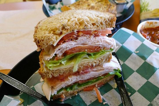 Catalanos At The Cog: This is only ONE HALF of my delicious Turkey Club