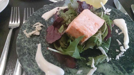 Waterside Brasserie at Middlesbrough College: Salmon starter