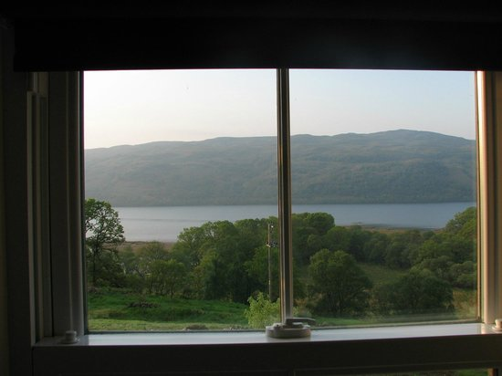 Collaig House Luxury B&B: view from our bedroom