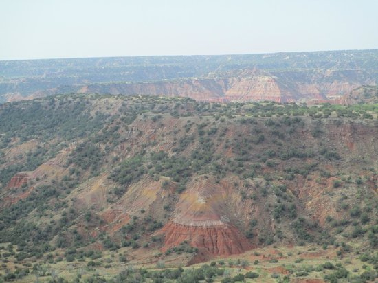 The canyon view at the interpretive center, Palo Duro Canyon State Park, Texas