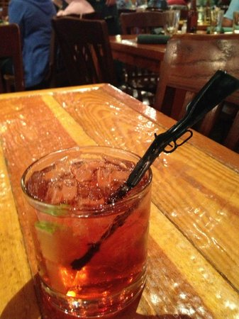 "Gun Barrel Steak & Game House: Fun ""rifle"" stirrers"