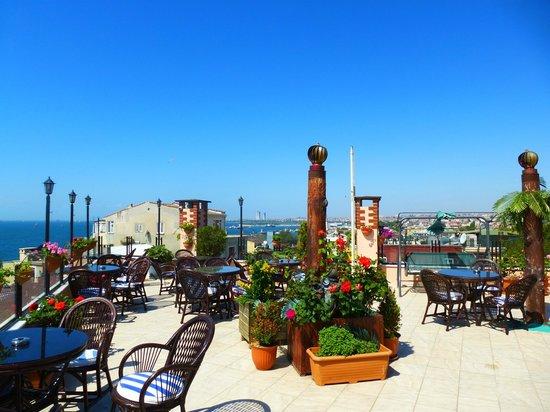 Artefes Hotel Istanbul : Тераса с видом на море