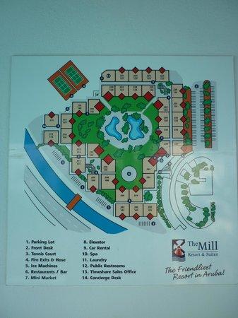 The Mill Resort & Suites Aruba: Plano del hotel