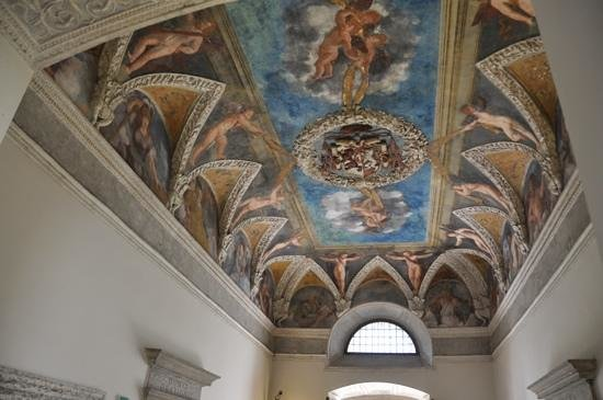 Castello di Stenico: first site of some of the magnificent ceilings