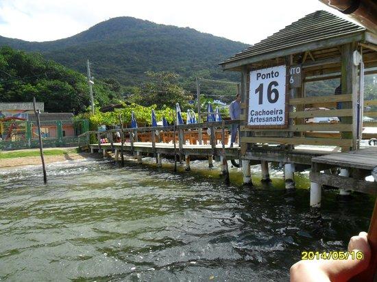 Costa da Lagoa: Porto 16 restaurantes onde fica a cachoeira