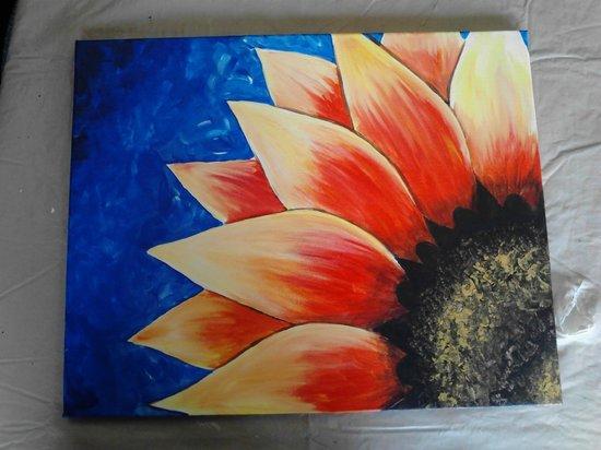 Art Escape: Sunflower canvas