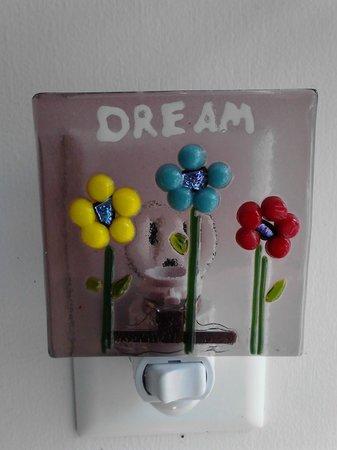 "Art Escape : Glass night light ""flower dream"""