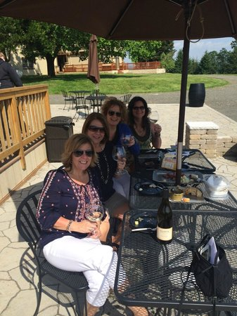 A Great Oregon Wine Tour: Enjoying Lunch with Camille