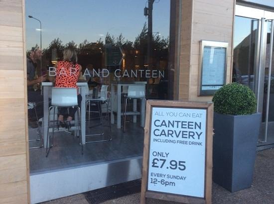 Canteen and Bar: the Bar and Canteen looks good from the outside