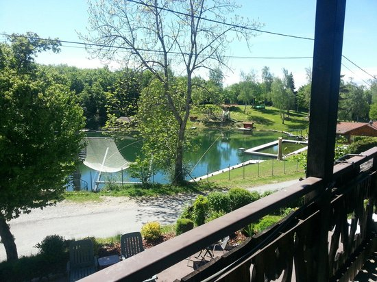 Le Cro-Bidou Hotel: La vue de notre balcon terrasse