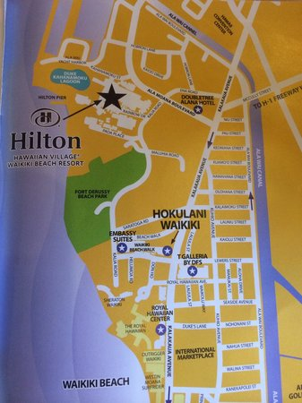 Hokulani Waikiki by Hilton Grand Vacations: This is NOT close to the other three HGV towers, but it is more centrally located
