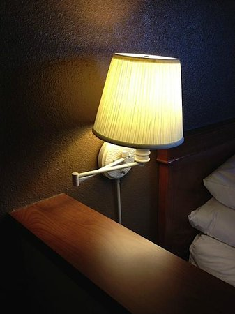Comfort Inn & Suites San Francisco  Airport North : dim lighting and worn out lamp