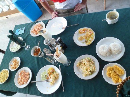 Hostal Mayito: Una de las ricas cenas :)