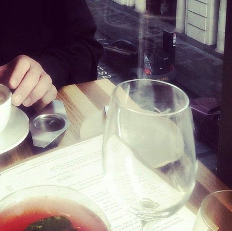 Bread Street Kitchen : Love Potion for me. Tea for him.