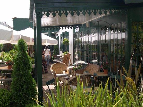 Lavander Gifts and Tea room: la terrasse