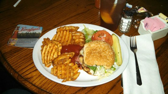 Big A's On The Riverfront: Chicken Cordon Bleu sandwich
