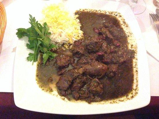 Restaurant Zafran: ghormesabzi