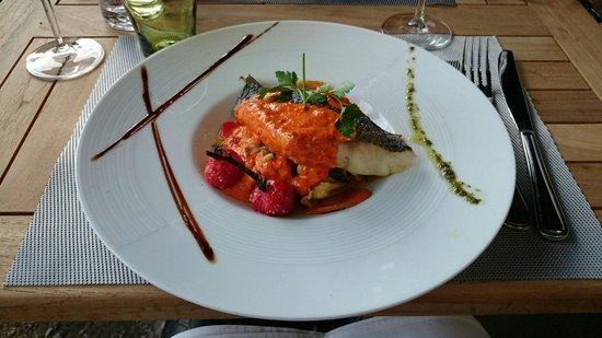 Le Cerf a Moustache : Filet de loup risotto et légumes