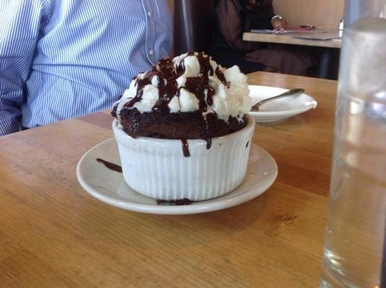 Salt Creek Grille : Chocolate souffle for dessert