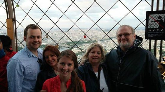 Paris Trip : At the top of the Eiffel Tower