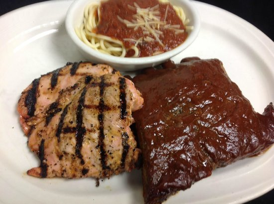 John & Nick's Prime Rib & Steakhouse: Grilled Chicke & BBQ Ribs