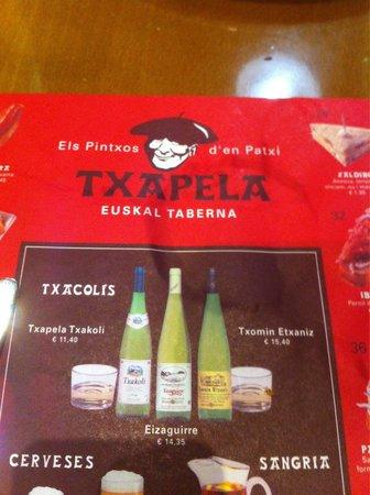 Txapela : Over priced drinks