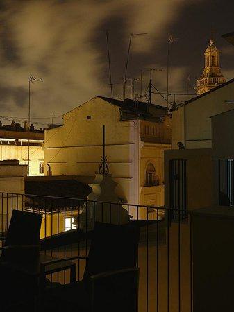 Valenciaflats Catedral: ночной вид с террасы на юг