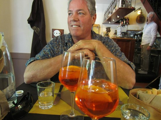 Osteria Caffe Amaro: Enjoying an Aperol Spritz