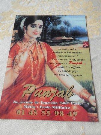 PUNJAB - Prospectus du restaurant