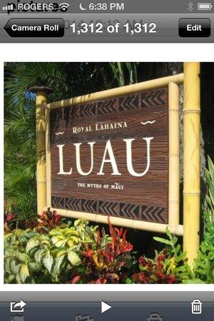 Royal Lahaina Luau: Royal Lahaian Luau April 2014