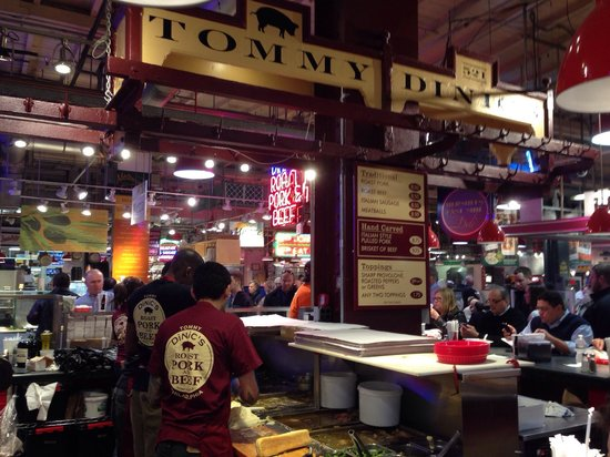 Reading Terminal Market: Bocata de grelos