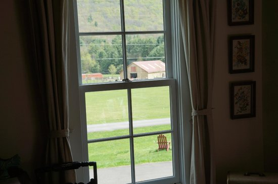 Willow, NY: View of the farm from the bedroom window