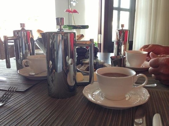 The St. Regis Mauritius Resort : Personal french press at breakfast