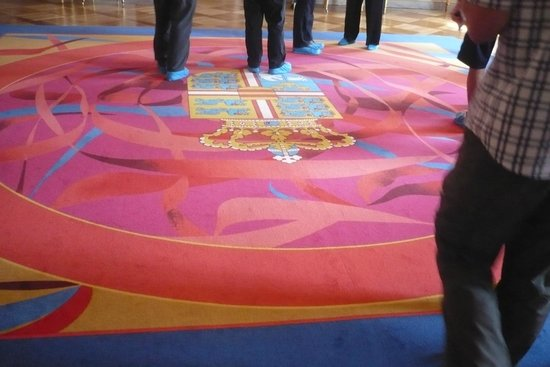 Royal Palace: Tourists have to wear booties to protect the floor coverings