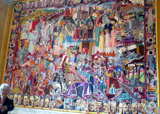 Royal Palace: Tapestry showing World leaders and other icons like The Beatles