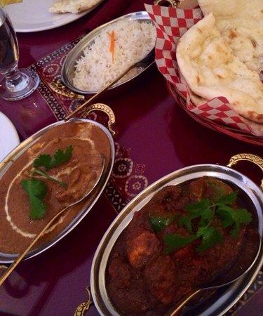 Taj Mahal - Flavor Of India: Chicken Tikka Masala , Rice , Naan , and More.