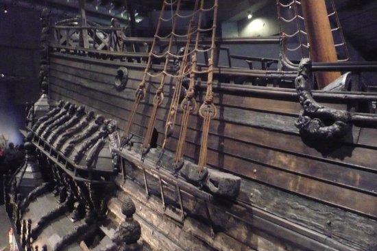 Vasa-Museum: Detail of Galleon
