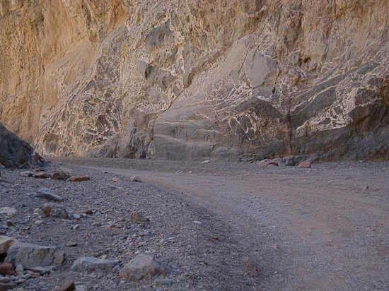 View of the canyon walls on my hike through Titus Canyon.