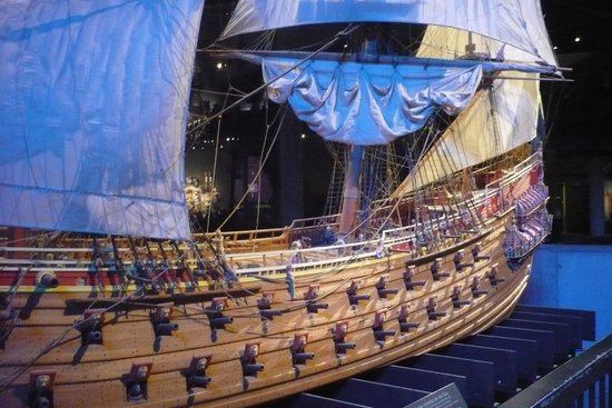 Vasa-Museum: View of the Galleon when new