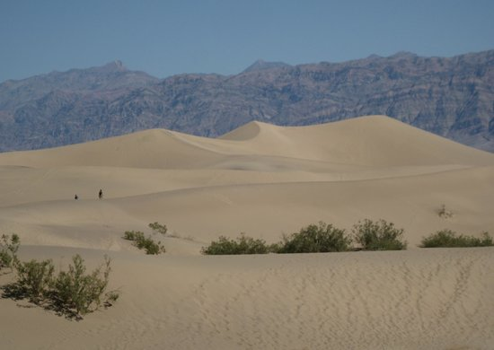Mesquite Flat Sand Dunes: View as you hike out to the Mesquite Sand Dunes.
